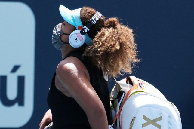 Naomi Osaka withdrew from the French Open on Monday due to her concerns over mental health. File Photo by Gary I Rothstein/UPI