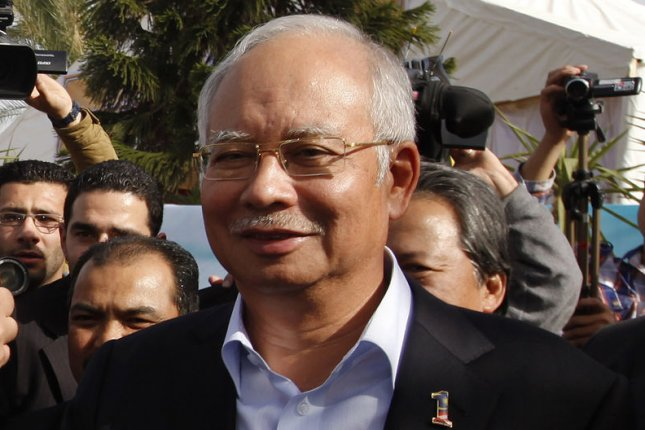 Malaysian Prime Minister Najib Razak, pictured in 2013, announced on March 24, 2014 that missing Malaysia Airlines Flight 370 had crashed west of Perth, Australia. (UPI/Mohammed Salem/Pool)