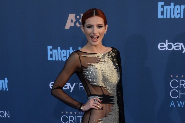 Bella Thorne attends the Critics' Choice Awards on December 11, 2016. The actress appeared to have rekindled her romance with Scott Disick on Thursday. File Photo by Jim Ruymen/UPI