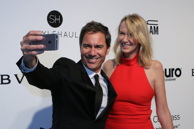 Eric McCormack (L) and Janet Holden attend the Elton John AIDS Foundation Academy Awards viewing party on February 26. The actor plays Will Truman on Will & Grace. File Photo by Howard Shen/UPI