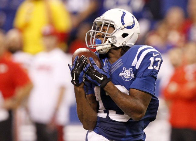 T.Y. Hilton and the Indianapolis Colts fell to the Denver Broncos on Thursday night. Photo by Mark Cowan/UPI