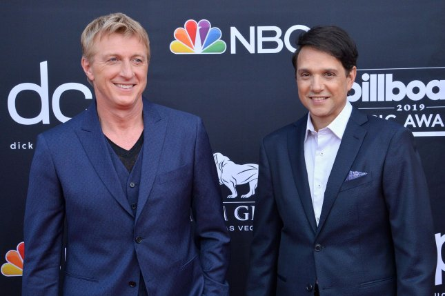 William Zabka (L) and Ralph Macchio brought back The Karate Kid in the series Cobra Kai. File Photo by Jim Ruymen/UPI