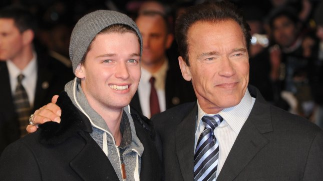 Austrian/American actor Arnold Schwarzenegger and his son Patrick Schwarzenegger attend the European premiere of Last Stand at The Odeon West End, in London on January 22, 2013. UPI/Paul Treadway