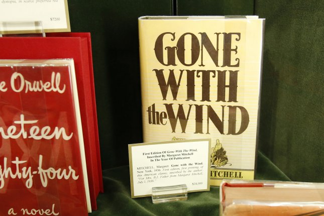 A first edition copy of Gone With the Wind inscribed by author Margaret Mitchell is on display at a press preview for the 59th annual Winter Antiques Show at the Park Avenue Armory in New York in New York City on January 24, 2013. The show is open to the public January 25-February 3, 2013 and features 73 exhibitors, including eight new to the show, and thousands of works of fine art, furniture, and decorative objects. UPI/John Angelillo