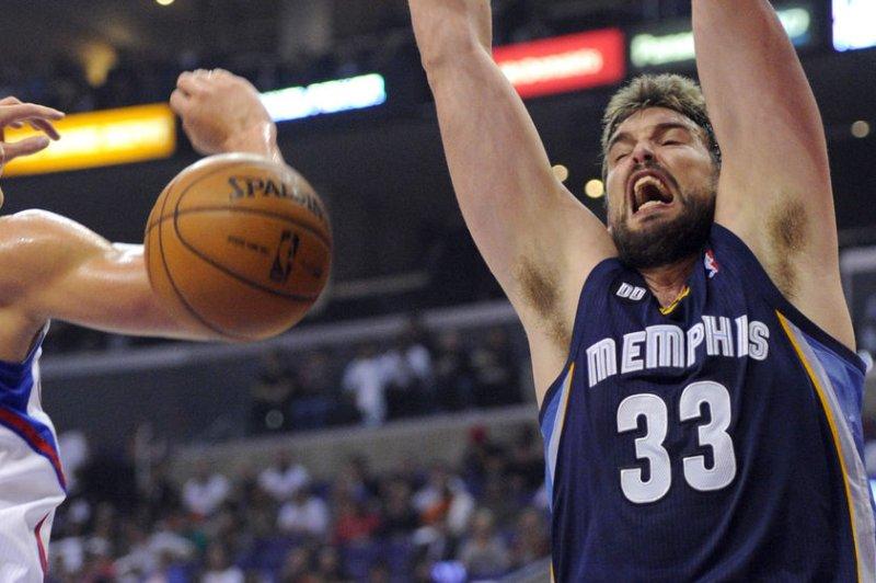Memphis Grizzlies center Marc Gasol (33). UPI/Lori Shepler