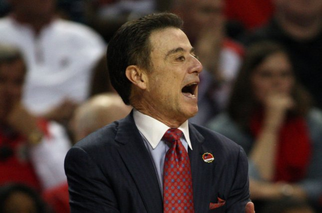 Rick Pitino is 2-0 in college basketball games against his son, Minnesota men's basketball coach Richard Pitino. File Photo by Jim Bryant/UPI