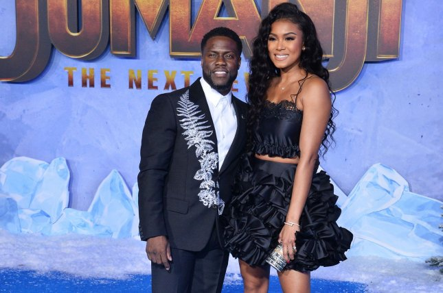 Kevin Hart (L) and his wife Eniko are expecting a baby daughter this summer. File Photo by Jim Ruymen/UPI