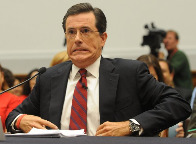 Stephen Colbert, host of The Colbert Report on Comedy Central, testifies before a House Judiciary Committee Immigration, Citizenship, Refugees, Border Security, and International Law Subcommittee hearing regarding migrant farm workers and the agricultural industry on Capitol Hill in Washington on September 24, 2010. Colbert was invited to testify after he spent one farcical day as a farm laborer which he said was much harder than punditry. UPI/Roger L. Wollenberg