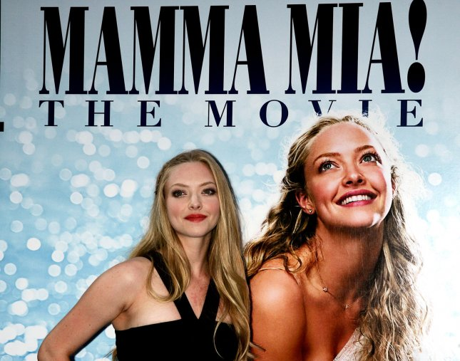 Amanda Seyfried arrives for the premiere of Mamma Mia, the stage musical version of which will open in China. (UPI Photo/Laura Cavanaugh)