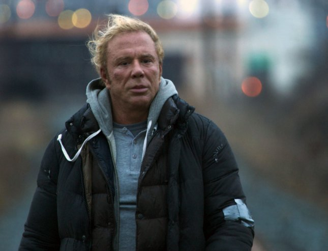 A scene from The Wrestler is pictured in this undated publicity photo released to UPI. Mickey Rourke, pictured, was nominated for best actor in a leading role for the 81st Academy Awards, announced in Beverly Hills, California on January 22, 2009. The Oscars will be presented February 22 at the Kodak Theatre in Los Angeles. (UPI Photo/Jo Jo Whilden/Overture Films/HO)