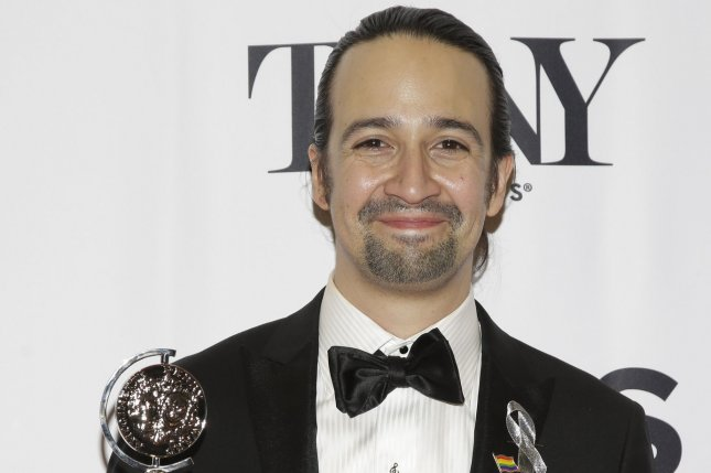 Lin-Manuel Miranda arrives in the press room after winning a Tony Award at the 70th Annual Tony Awards at the Beacon Theatre on June 12, 2016 in New York City. Photo by John Angelillo/UPI
