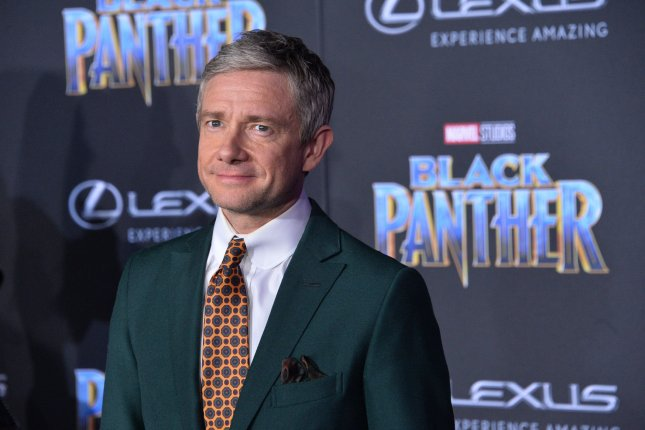 Martin Freeman attends the premiere of Black Panther at the Dolby Theatre in the Hollywood section of Los Angeles on January 29, 2018. The actor turns 50 on September 8. File Photo by Jim Ruymen/UPI