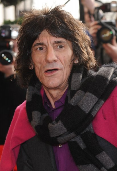British musician Ronnie Wood from Rolling Stones in London on January 29, 2008. (UPI Photo/Rune Hellestad/File)