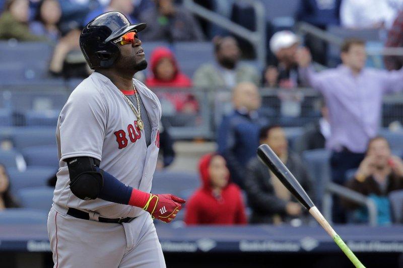 Boston Red Sox designated hitter David Ortiz. Photo by Ray Stubblebine/UPI