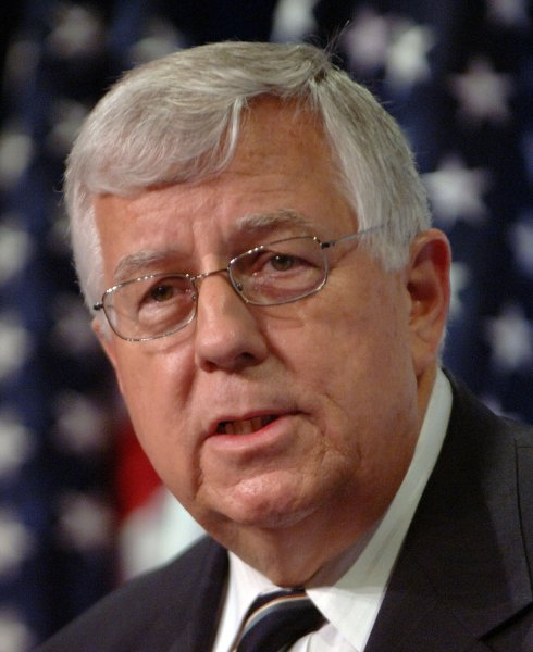 U.S. Senator Mike Enzi, R-Wyo., said Saturday that he will retire after his term ends next fall. File Photo by Roger L. Wollenberg/UPI