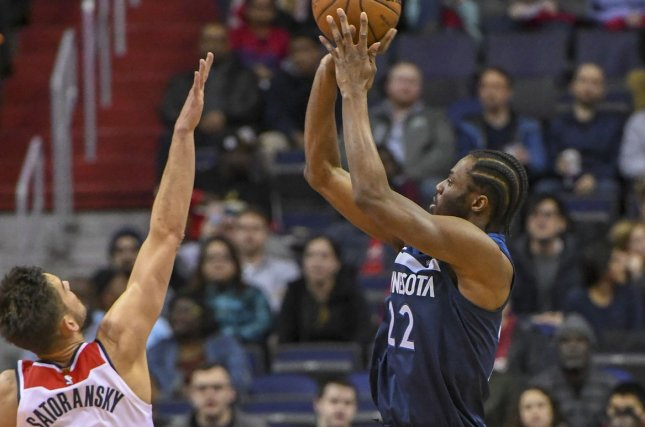 Minnesota Timberwolves swingman Andrew Wiggins has averaged 22.4 points and 5.2 rebounds per game this season. File Photo by Mark Goldman/UPI