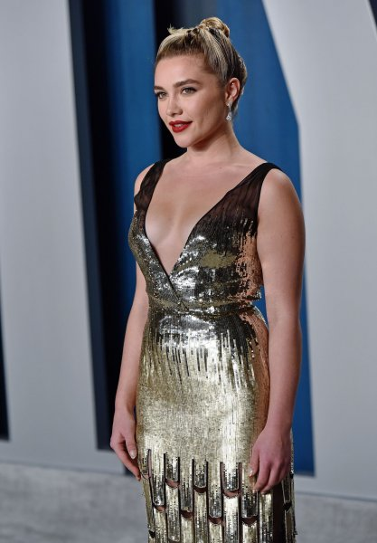 Florence Pugh arrives for the Vanity Fair Oscar party at the Wallis Annenberg Center for the Performing Arts in Beverly Hills, Calif., on February 9. The actor turns 25 on January 3. File Photo by Chris Chew/UPI