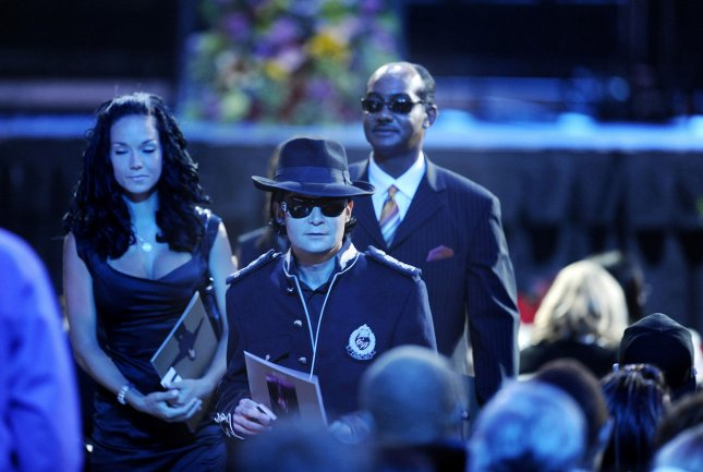 Actor Corey Feldman arrives to the memorial service for Michael Jackson at Staples Center in Los Angeles on July 7, 2009. The King of Pop died in Los Angeles on June 25 at age 50. (UPI Photo Photo/Wally Skalij/Pool)