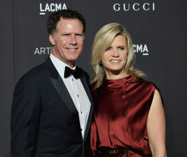 Actor Will Ferrell, seen here with wife Viveca Paulin, is set to reprise his Anchorman character for The Ron Burgundy Podcast, which premieres Feb. 7. File Photo by Jim Ruymen/UPI