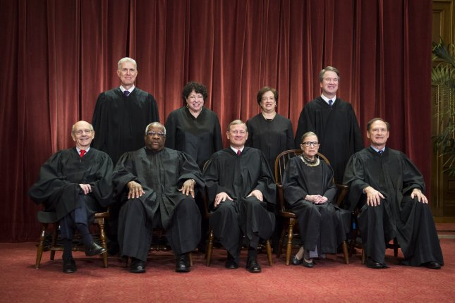 In its ruling on a Virginia uranium case, the justices sketched out the court's evolving views on the proper balance between federal regulatory power and the rights of states in setting their own policies. File Photo by Kevin Dietsch/UPI