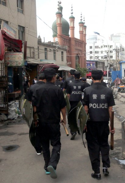 The Chinese government has denied the accusations of repression its Muslim populations, saying its actions in Xinjiang are to counter terrorism and prevent radicalization. Photo by Stephen Shaver/UPI