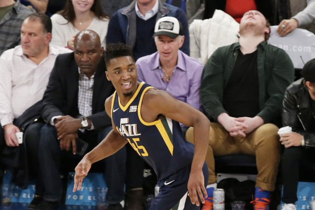 Utah Jazz star Donovan Mitchell tested positive for COVID-19, but has been medically cleared. File Photo by John Angelillo/UPI