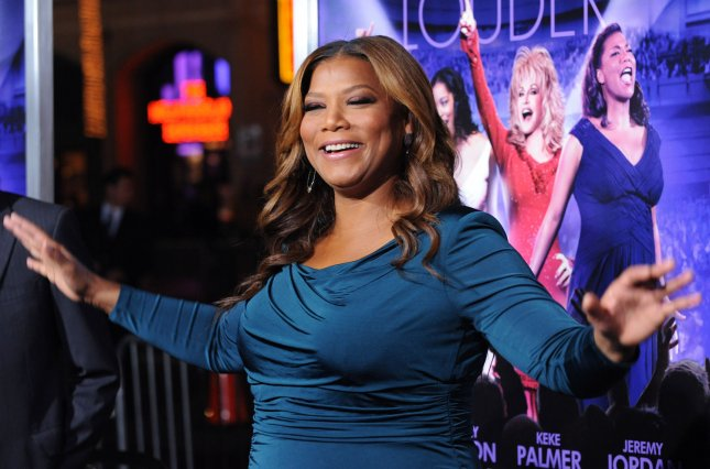 Queen Latifa, a cast member in the motion picture musical comedy Joyful Noise, attends the premiere of the film at Grauman's Chinese Theatre in the Hollywood section of Los Angeles on January 9, 2012. UPI/Jim Ruymen