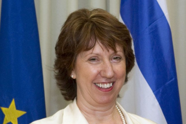 European Union Foreign Policy Chief Catherine Ashton, pictured in 2011, attended the EU Foreign Affairs Council meeting in Luxembourg on April 14, 2014. (UPI/Jack Guez/Pool)