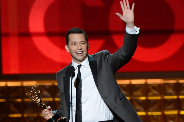 Actor Jon Cryer receives the Emmy Award for Lead Actor in a Comedy Series for Two and a Half Men onstage at the 64th Primetime Emmys at the Nokia Theatre in Los Angeles on September 23, 2012. UPI/Jim Ruymen