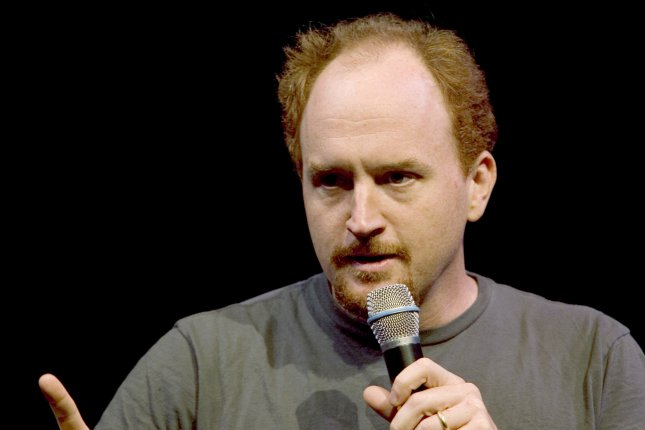 Comedian Louie CK performs at the Vancouver International Comedy Festival, October 22, 2004. Photo by Heinz Ruckemann/UPI