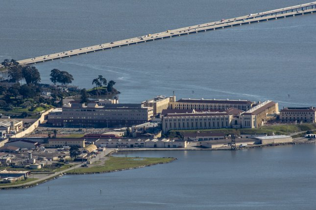 San Quentin State Prison is seen in Marin County, Calif.The main thrust of the high court's decision was that it's unlikely that voters who favored Proposition 64 five years ago, which decriminalized possessing up to an ounce of marijuana, also intended that it apply to prison inmates. File Photo by Terry Schmitt/UPI