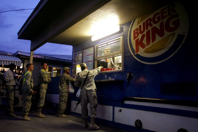 Undercooked hamburgers were discovered by Washington state food inspectors in many Burger Kings.. UPI/Mohammad Kheirkhah