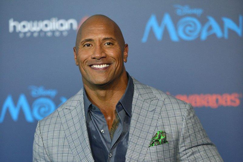 Dwayne Johnson at the Los Angeles premiere of Moana on November 14. File Photo by Christine Chew/UPI