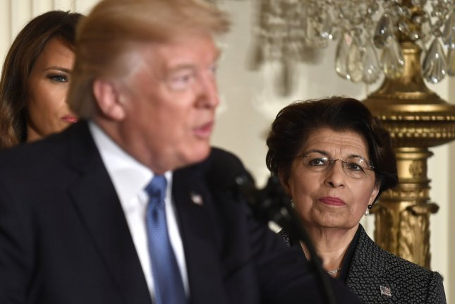 U.S. Treasurer Jovita Carranza was nominated head of the Small Business Administration by President Donald Trump on Thursday. File Photo by Mike Theiler/UPI