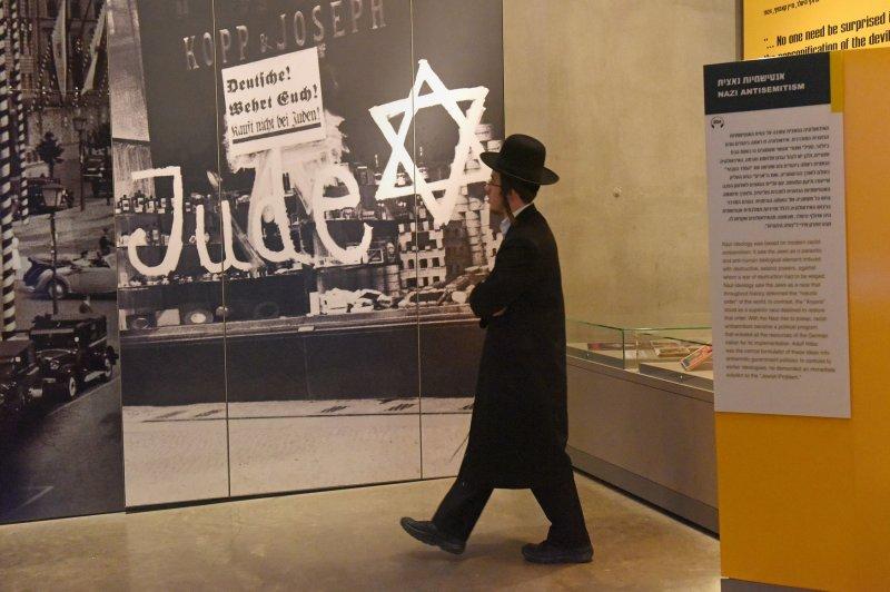 An Ultra-Orthodox Jew visits the Yad Vashem Holocaust Museum on January 24 in Jerusalem, Israel. File Photo by Debbie Hill /UPI