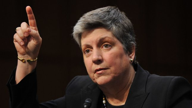 Homeland Security Secretary Janet Napolitano testifies during a Senate Judiciary Committee hearing on April 23, 2013 in Washington, D.C. UPI/Kevin Dietsch