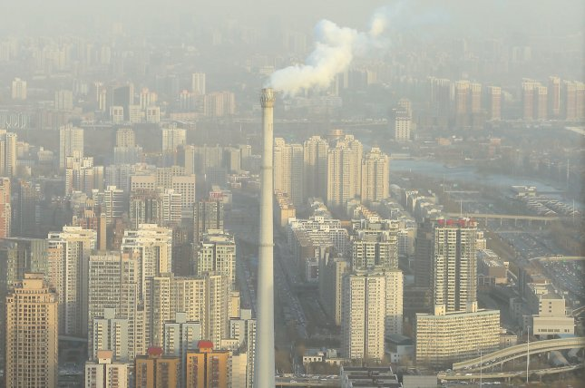 Researchers say smog from Beijing can make its way to California via cross-Pacific atmospheric winds. File photo by UPI/Stephen Shaver