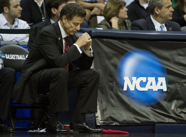 We are very excited to be going to Indianapolis, especially for our fans, Pitino said. We have had the best or second-best schedule in the RPI. Half of our schedule was played against teams that now are in the tournament. We didn't lose to a team below 40 in the RPI. File Photo by Gary C. Caskey/UPI