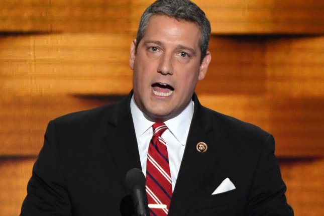 Rep. Tim Ryan, D-Ohio, speaks at the 2016 Democratic National Convention in Philadelphia. File Photo by Pat Benic/UPI