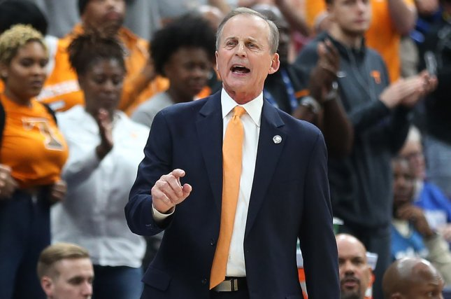Tennessee head basketball coach Rick Barnes was named the 2019 Naismith Coach of the Year on Sunday. Photo by Bill Greenblatt/UPI