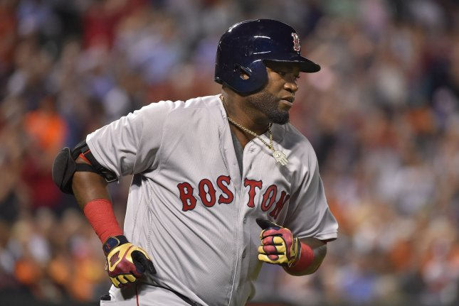 Former Boston Red Sox slugger David Ortiz took his first steps Tuesday after being shot in the back Sunday. File Photo by David Tulis/UPI