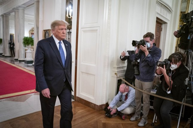 U.S. President Donald Trump said the deployment of federal agents to Chicago and Albuquerque will put an end to bloodshed. Photo by Sarah Silbiger/UPI