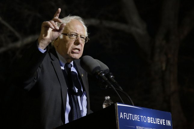 Democratic candidate for President Bernie Sanders says he will remain campaigning until the last primary votes are cast on June 14. Photo by John Angelillo/UPI