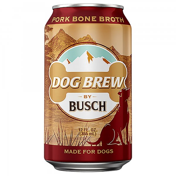 Newly released Busch Dog Brew is an all-natural product and contains vegetables, herbs, spices, water, and pork broth to provide dogs with a nutritious snack that helps to promote a healthy digestive system. Bone broth is also good for dogs who struggle to eat solid food to get all of their nutrients. Photo by Anheuser Busch/UPI