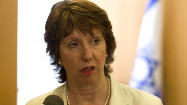 European Union Foreign Policy chief Catherine Ashton said that the bloc had agreed to freeze assets on groups thought to be funding Syria's regime. UPI/Jack Guez/Pool