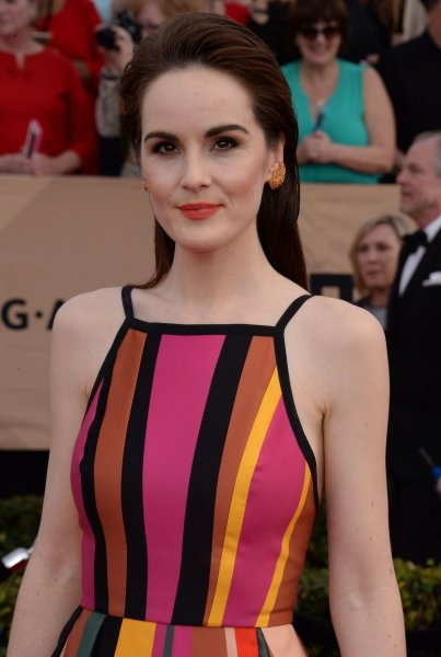 Good Behavior actress Michelle Dockery arrives for the the 23rd annual SAG Awards in Los Angeles on January 29. File Photo by Jim Ruymen/UPI
