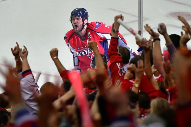 Washington Capitals left wing Alex Ovechkin (8). File photo by Kevin Dietsch/UPI