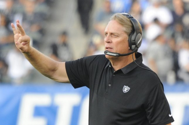 Former Oakland Raiders head coach Jack Del Rio will make his first appearance on the network Friday. File Photo by Lori Shepler/UPI