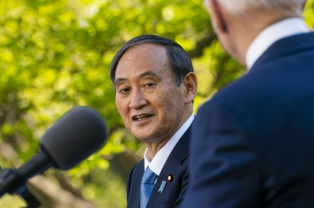"""Last month after a summit between U.S. President Joe Biden and Japanese Prime Minister Yoshihide Suga, the White House said the two sides would partner on sensitive supply chains."""" Pool Photo by Doug Mills/UPI"""
