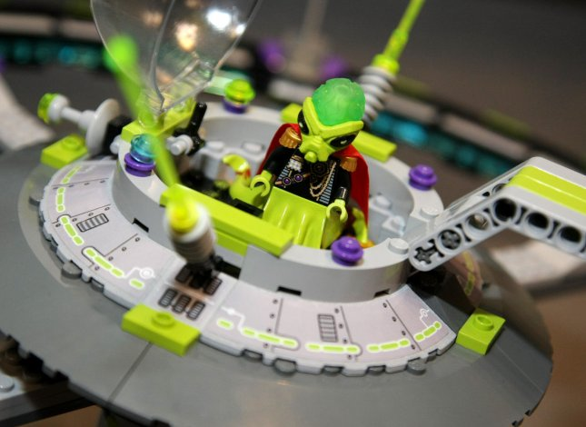 An Alien Conquest space ship toy by Lego is unveiled at the 108th American International Toy Fair held at the Jacob Javits Center on February 13, 2011 in New York City. UPI /Monika Graff